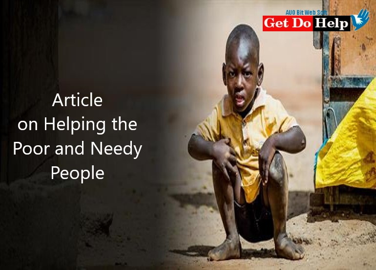 Article on Helping the Poor and Needy People