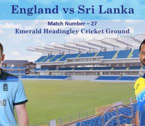 ICC World Cup 2019 - Match 27, England vs Sri Lanka, Match Prediction and Tips