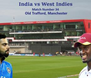 ICC World Cup 2019 - Match 34, India vs West Indies, Match Prediction and Tips