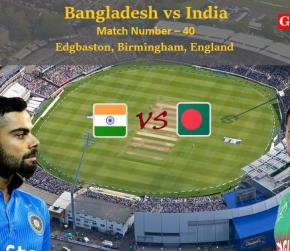 ICC World Cup 2019 - Match 40, Bangladesh vs India, Match Prediction and Tips
