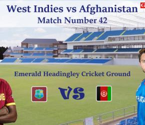 ICC World Cup 2019 - Match 42, West Indies vs Afghanistan, Match Prediction and Tips